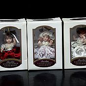 handmade. Livemaster - original item Collectible dolls for the Christmas tree DG Porcelain Collectible. Handmade.