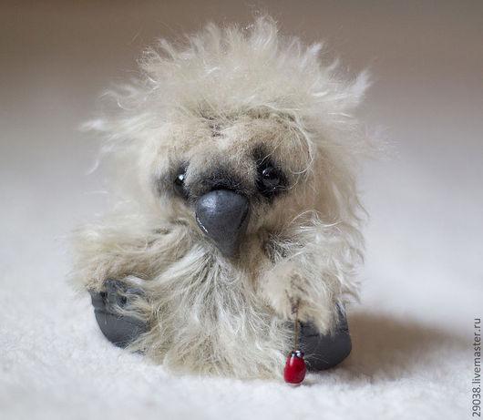 Мишки Тедди ручной работы. Ярмарка Мастеров - ручная работа. Купить Птенец. Handmade. Серый, авторская игрушка, мохер, синтепух