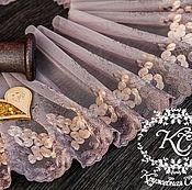 Материалы для творчества ручной работы. Ярмарка Мастеров - ручная работа Кружево 450 вышивка на сетке, кружево с вышивкой. Handmade.