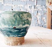 """Посуда ручной работы. Ярмарка Мастеров - ручная работа Стаканчики """"купание в дождь"""". Handmade."""