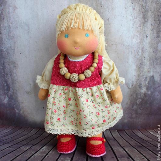 Вальдорфская игрушка ручной работы. Ярмарка Мастеров - ручная работа. Купить Июнька_2, 33 см. Handmade. Вальдорфская кукла, разноцветный