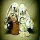 Куклы Тильды ручной работы. Ярмарка Мастеров - ручная работа. Купить Тильда-зайки. Неразлучники. Handmade. Текстильная кукла