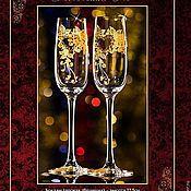 """Свадебный салон ручной работы. Ярмарка Мастеров - ручная работа Свадебные бокалы """"Тенереца Золото"""". Handmade."""