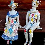 Для дома и интерьера ручной работы. Ярмарка Мастеров - ручная работа Арлекин и Коломбина. Handmade.