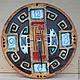 Часы для дома ручной работы. Ярмарка Мастеров - ручная работа. Купить Часы орнаментальные. Handmade. Разноцветный, часы ручной работы
