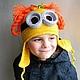 """Шапки и шарфы ручной работы. Заказать Шапочка """"I'm a Minion Girl"""". Mария Green Eyes & сompany. Ярмарка Мастеров."""