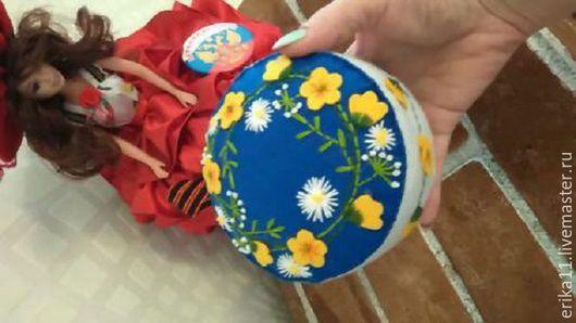Персональные подарки ручной работы. Ярмарка Мастеров - ручная работа. Купить подарочная игольница цветочная. Handmade. Тёмно-синий, вышивка