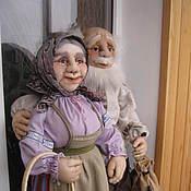 Куклы и игрушки handmade. Livemaster - original item Grandma next to grandpa. Handmade.