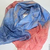 Аксессуары ручной работы. Ярмарка Мастеров - ручная работа шарф валяный Коралловое море. Handmade.