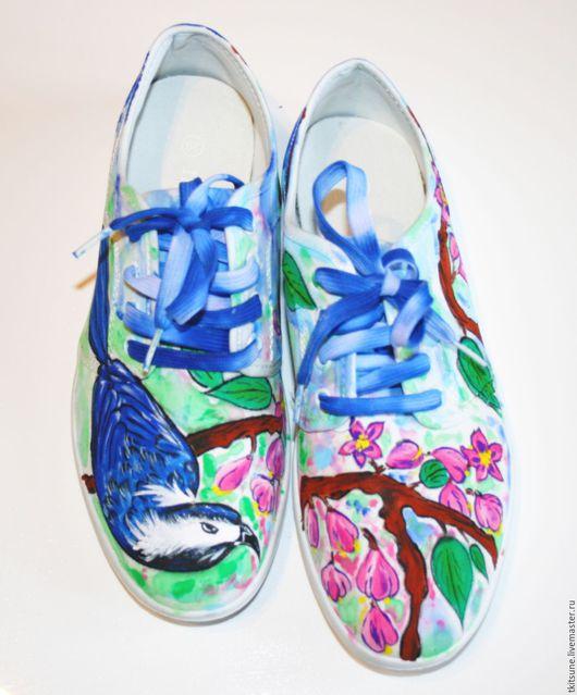 Кеды с ручной росписью.На заказ. Необычная обувь. Ручная роспись.