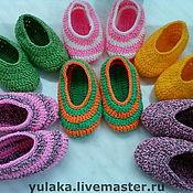Обувь ручной работы. Ярмарка Мастеров - ручная работа Тапочки-следочки. Handmade.