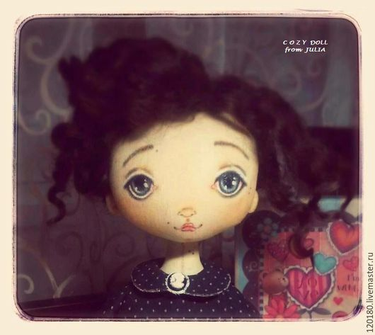 Коллекционные куклы ручной работы. Ярмарка Мастеров - ручная работа. Купить Аннет .... Handmade. Черный, подарок подруге, Овечьи кудри