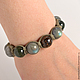 Shamballa bracelet with suede and labradorite, jade and Bronzit. Gift to man. A gift for the New year. The bracelet on the arm. bracelet with stones. Bracelet with stones. Mascots. Amulet. Shambhala.