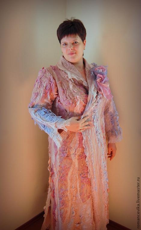 """Верхняя одежда ручной работы. Ярмарка Мастеров - ручная работа. Купить Пальто """"Pearly luster"""". Handmade. Авторская ручная работа"""