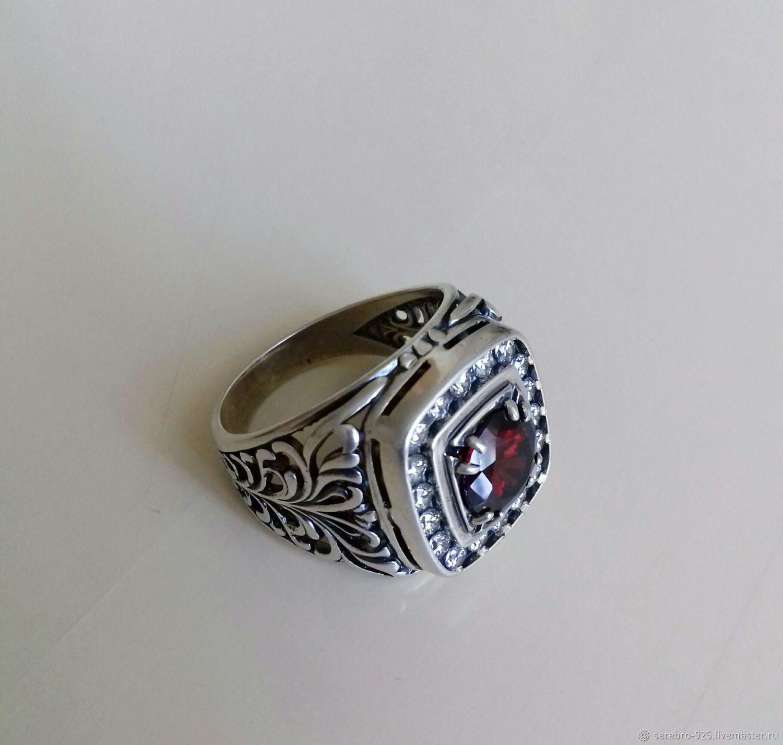 Мужской перстень из серебра 925 пробы, Перстень, Карабулак,  Фото №1