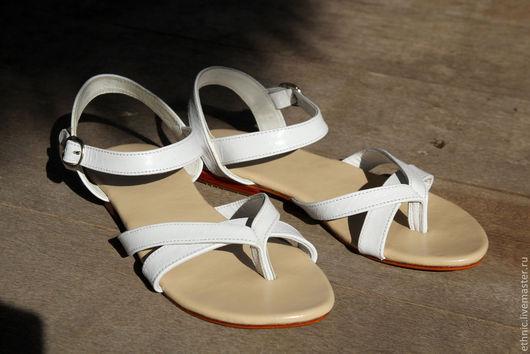 """Обувь ручной работы. Ярмарка Мастеров - ручная работа. Купить Сандалии """"Purity"""". Handmade. Белый, сандалии, женская обувь"""