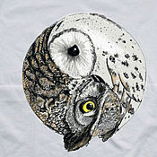 Одежда handmade. Livemaster - original item T-shirt with hand painted