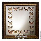 """Для дома и интерьера ручной работы. Ярмарка Мастеров - ручная работа Зеркало большое  """"Бабочки """". Handmade."""