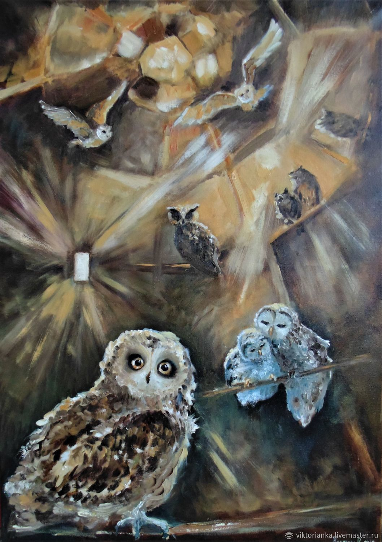 Hogwarts owl oil Painting, Pictures, Yevpatoriya,  Фото №1