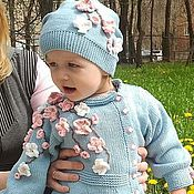 Работы для детей, handmade. Livemaster - original item summer coats Apple blossom knitted children`s author. Handmade.