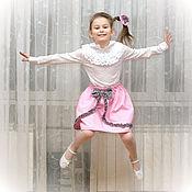 Работы для детей, ручной работы. Ярмарка Мастеров - ручная работа Розовая юбка для девочки + зайка + бантики. Handmade.