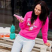 """Одежда ручной работы. Ярмарка Мастеров - ручная работа Женский свитшот с вышивкой """"Sweet time"""". Handmade."""