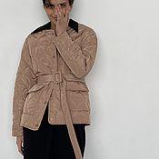 handmade. Livemaster - original item Button-down jacket, quilted beige. Handmade.