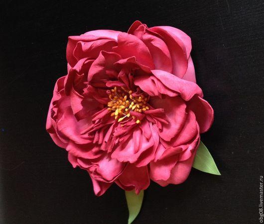 """Цветы ручной работы. Ярмарка Мастеров - ручная работа. Купить Пион """"Любимый цветок"""". Handmade. Фуксия, пион ручной работы"""