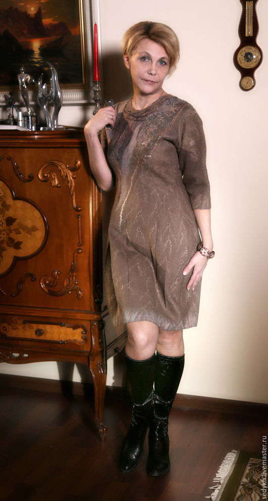Платья ручной работы. Ярмарка Мастеров - ручная работа. Купить платье валяное двустороннее. Handmade. Комбинированный, платье купить