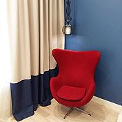 Для дома и интерьера handmade. Livemaster - original item The curtains are beige with piping in loft style. Handmade.