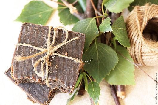 """Мыло ручной работы. Ярмарка Мастеров - ручная работа. Купить Мыло для проблемной кожи """"Деготь и ним"""". Handmade. Черный"""
