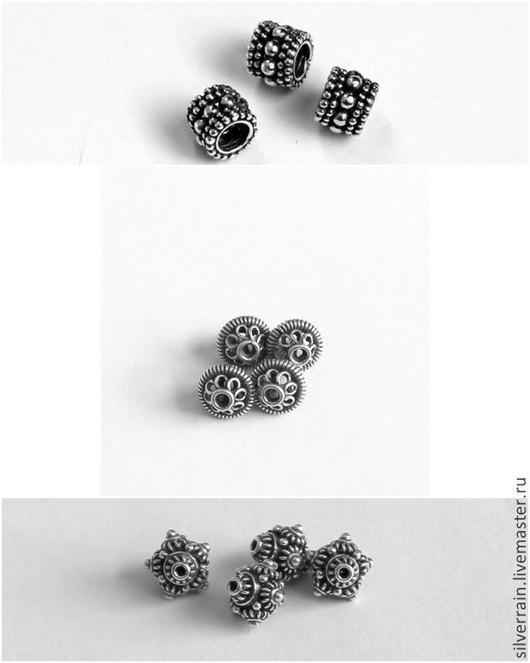 Для украшений ручной работы. Ярмарка Мастеров - ручная работа. Купить Бусина  серебро 925 Бали. Handmade. Серебряный