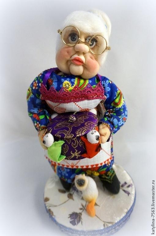 Человечки ручной работы. Ярмарка Мастеров - ручная работа. Купить Бабушка Ключница. Handmade. Бабушка, очки, семейный очаг, синтепон