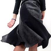 """Одежда ручной работы. Ярмарка Мастеров - ручная работа Валяная юбка-спираль """"Питерский серый"""". Handmade."""