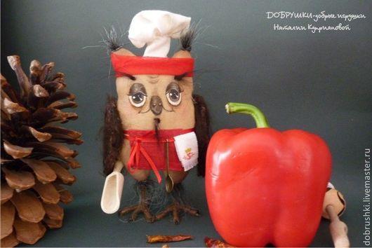 Сова Повар. Королевство Сов. Текстильная игрушка Наталии Куприяновой