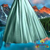 "Одежда ручной работы. Ярмарка Мастеров - ручная работа мятная атласная юбка ""Зеркальная мята"". Handmade."