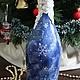 """Новый год 2018 ручной работы. Заказать Новогодняя бутылка """"Дед Мороз - красный нос"""". Некрасова Екатерина (katxarina). Ярмарка Мастеров."""