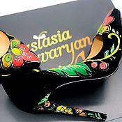 Обувь ручной работы handmade. Livemaster - original item Shoes with elements of painting. Handmade.
