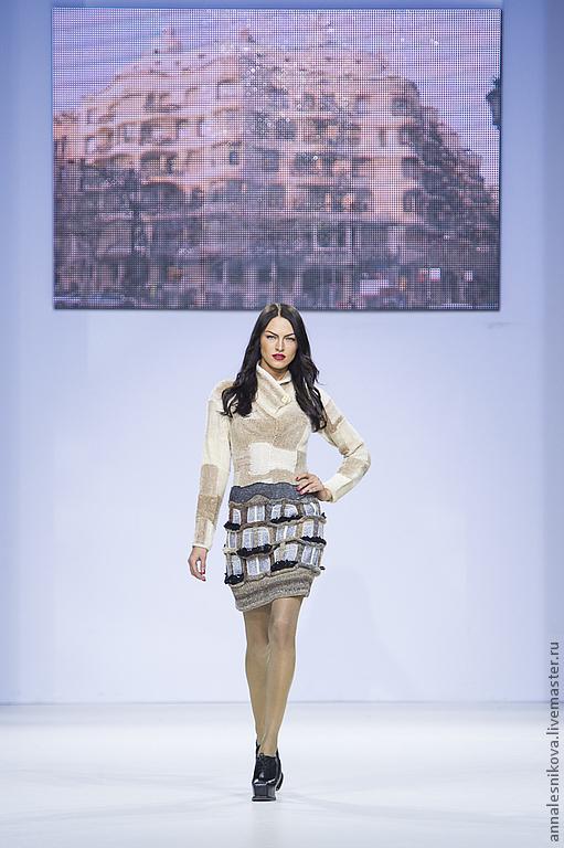 """Платья ручной работы. Ярмарка Мастеров - ручная работа. Купить Платье"""" Дом Гауди"""", цвет сливочный. Handmade. Бежевый, шерсть"""
