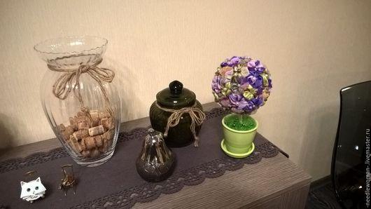 Топиарии ручной работы. Ярмарка Мастеров - ручная работа. Купить Топиарий. Handmade. Дерево, интерьер, зеленый, бусины, пуговицы декоративные