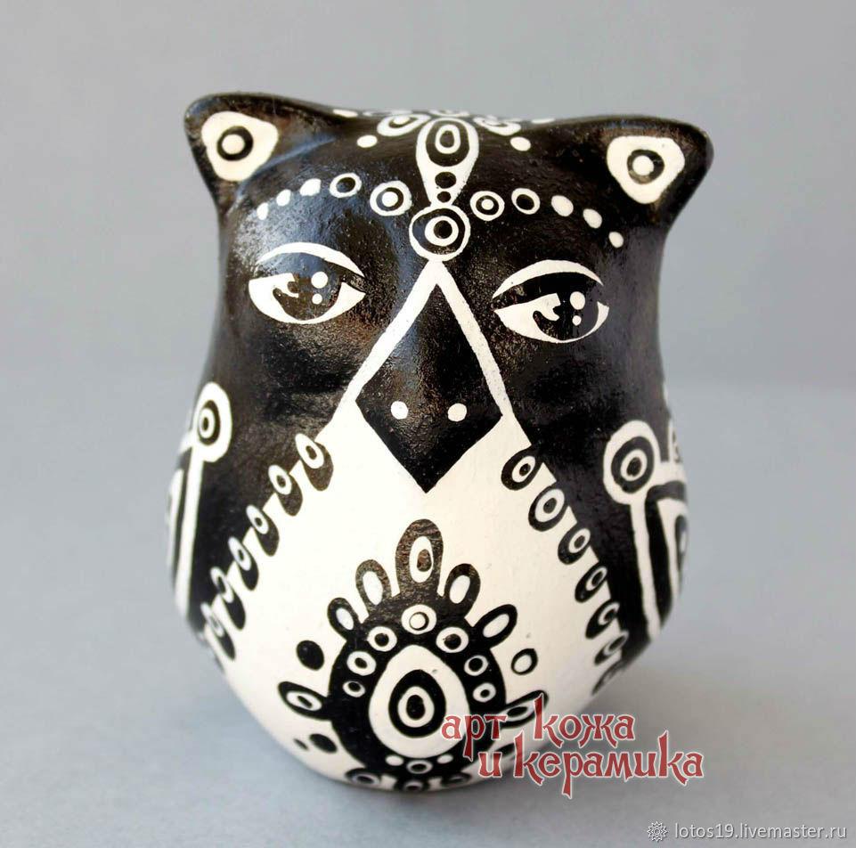 Owl. Hand-made clay ocarina (tin whistle) .Musical instrument, Jew\'s Harp, Krasnoyarsk,  Фото №1