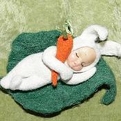 Куклы и игрушки ручной работы. Ярмарка Мастеров - ручная работа Спи,зайка:). Handmade.