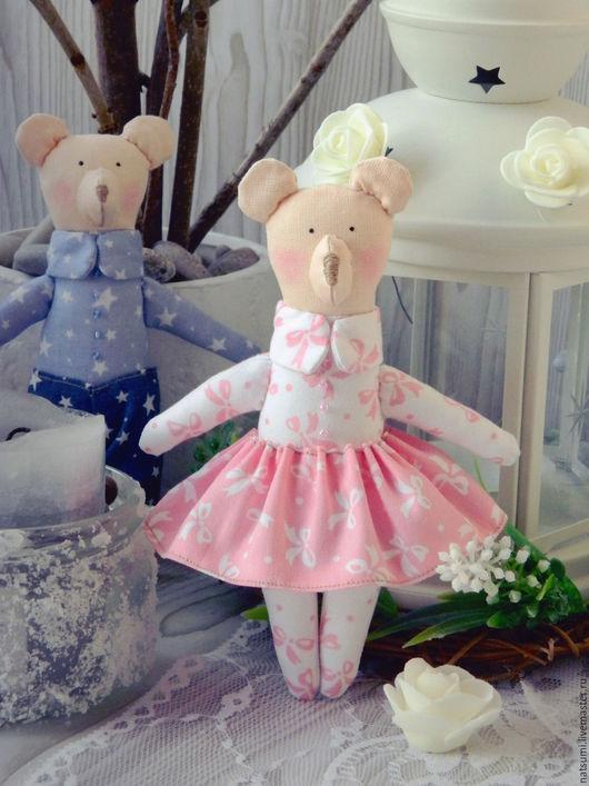 Куклы Тильды ручной работы. Ярмарка Мастеров - ручная работа. Купить Мишки Тильда. Handmade. Медвежонок, медведь, голубой, подарок