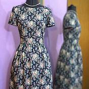 Одежда ручной работы. Ярмарка Мастеров - ручная работа Платье с коротким рукавом и карманами. Handmade.