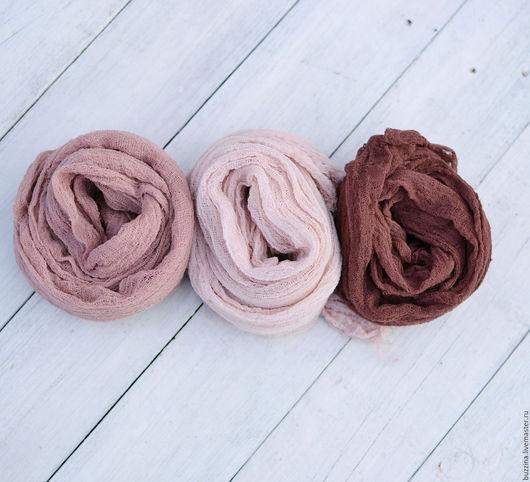 Для новорожденных, ручной работы. Ярмарка Мастеров - ручная работа. Купить Марлевые обмотки для фотосессий новорожденных 3 шт. Handmade.