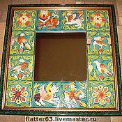 Для дома и интерьера ручной работы. Ярмарка Мастеров - ручная работа зеркало в изразцах. Handmade.