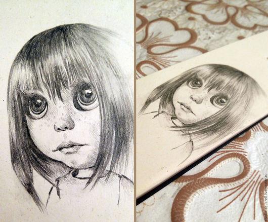 Коллекционные куклы ручной работы. Ярмарка Мастеров - ручная работа. Купить Зарисовка куклы. Handmade. Чёрно-белый, открытка, разработка