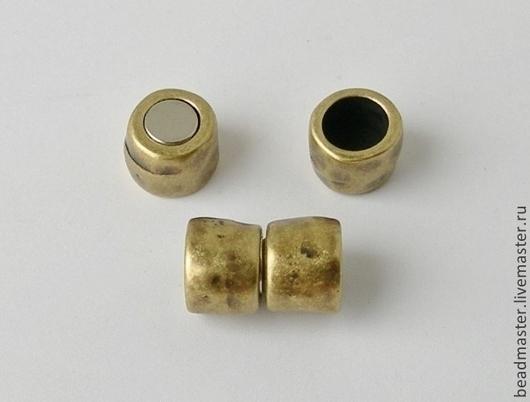 Для украшений ручной работы. Ярмарка Мастеров - ручная работа. Купить Замок,магнитный,отверстие 10 мм,ЗЖ3. Handmade.