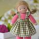 Вальдорфская игрушка ручной работы. Вальдорфская кукла Малинка, 30 см. Елена Белова (waldorf dolls). Ярмарка Мастеров.