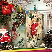 """Подарки к праздникам ручной работы. Ярмарка Мастеров - ручная работа карандашница """"Новогодние подарки"""". Handmade."""